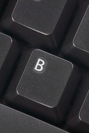alphabet computer keyboard: black computer keyboard close up