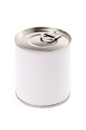 fish store: Canned Food with white background