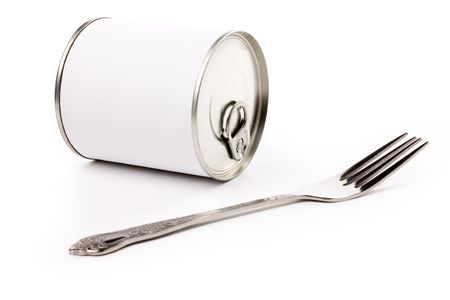 junkfood: Canned Food with white background