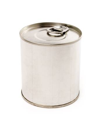 canned food: Canned Food with white background