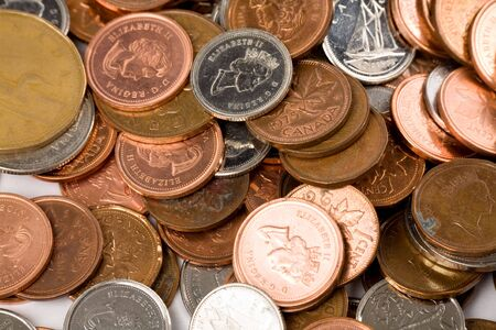 coins close up shot for background
