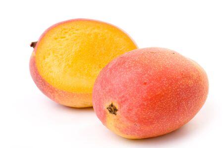 mango isolated: Red Mango close up shot