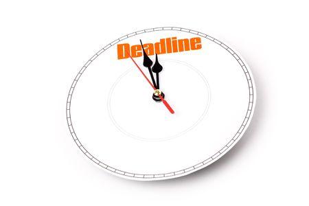 clock face, concept of deadline 版權商用圖片