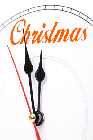 clock face, concept of christmas Imagens