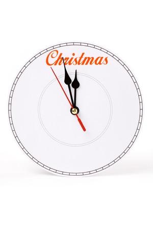 clock face, concept of christmas 版權商用圖片