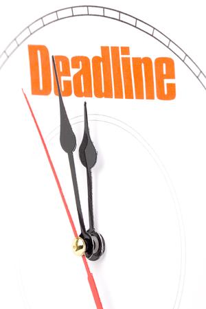 clock face, concept of deadline Reklamní fotografie