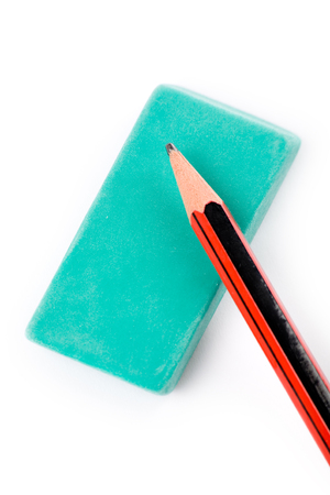 pencil eraser with white background Banco de Imagens