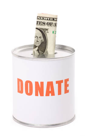 dollar and Donation Box, concept of Donation photo
