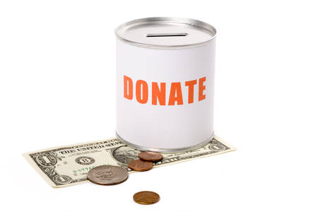 dollar and Donation Box, concept of Donation Stock Photo - 1439726