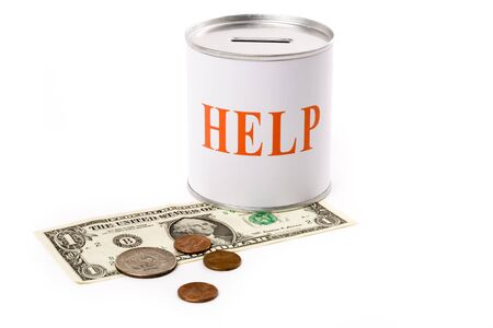 dollar and help Box, concept of financial support Stock Photo - 1439732
