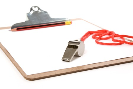 Clipboard and Whistle, sport concept Banco de Imagens - 1470588