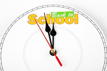 clock face, concept of back to school 版權商用圖片