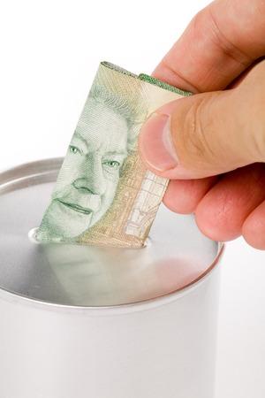 Coin Bank, concept of savings or Donation photo