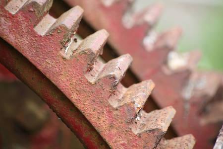 red Gearwheels close up shot