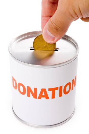 canadian dollar: canadian dollar and Donation Box, concept of Donation