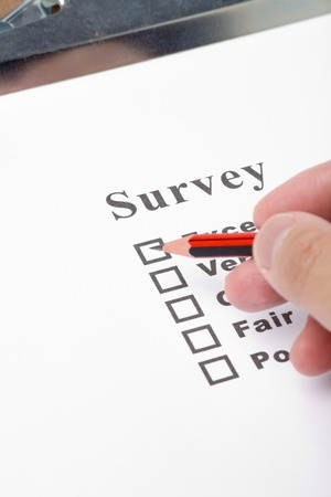 a Clipboard and questionnaire close up Stock Photo - 1533976