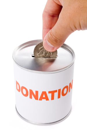 dollar and Donation Box, concept of Donation Stock Photo - 1545754