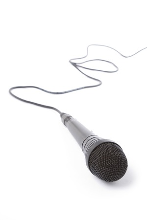 Black Microphone with white background