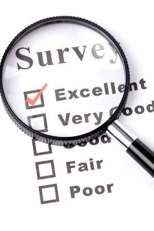 grading: cuestionario y lupa, concepto del negocio