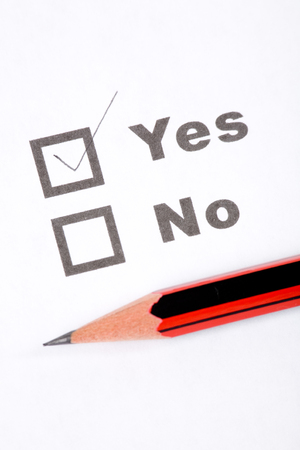 questionnaire and pencil, concept of Decisions
