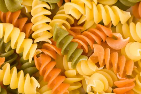 colorful pasta close up for background photo