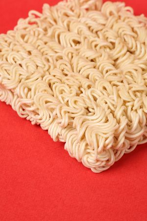 Chinese Dried noodle close up shot