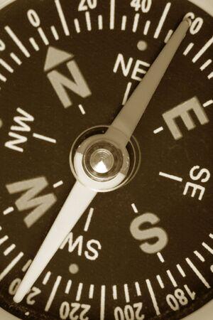 Compass close up shot for background Banco de Imagens