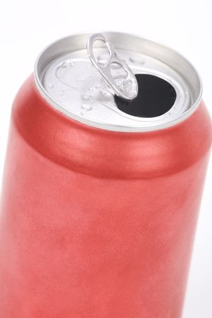 lata de refresco: puede cerrar un refresco rojo hasta shot  Foto de archivo