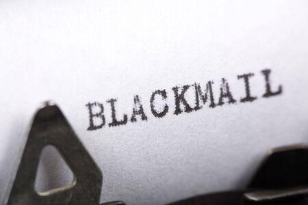 Typewriter close up shot, Concept of Blackmail Stock Photo - 1962828