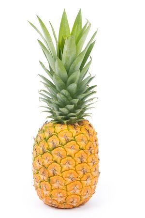 Pineapple with white background