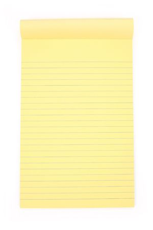 yellow notepad: Yellow note paper with white background