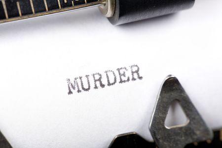 assassinate: Typewriter close up shot, concept of murder