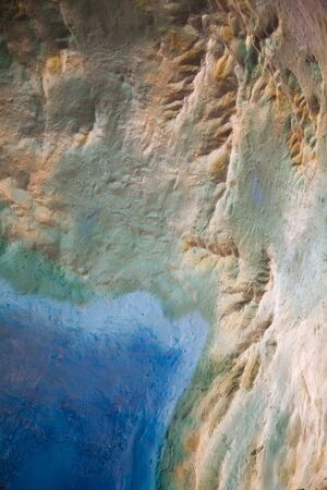 Topography map close up shot Stock Photo