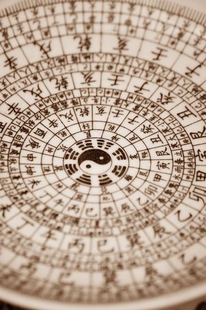 chinese astrology: chinese bagua diagram is used to tell the future