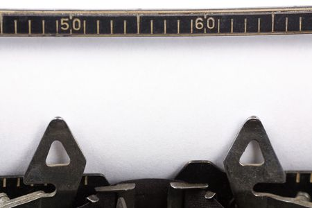 Typewriter and blank paper, concept of writing Reklamní fotografie