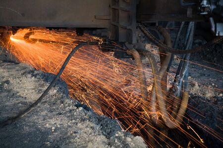 Molten iron close up shot Stock Photo - 2407447