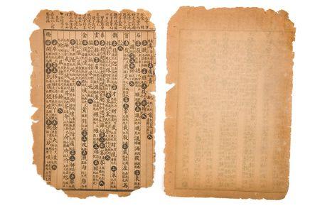 bruin antiek Chinees boek pagina voor achtergrond