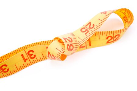 Tape Measure with white background Stock Photo