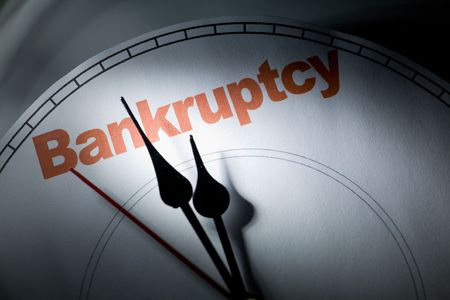 clock face, concept of bankruptcy, financial problem
