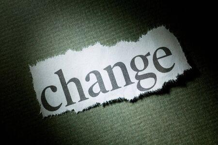 change concept: Cambio titular, el concepto de Cambio Foto de archivo