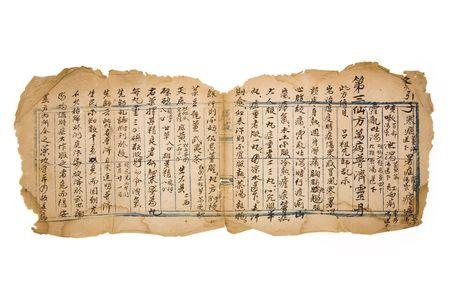 herbolaria: marr�n antiguo chino receta para fondo