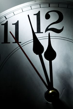 clock face, concept of Deadline, Stress, Fear
