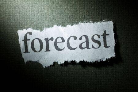 Headline Forecast, concept of Forecast Фото со стока