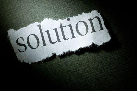 見出しのソリューションは、ソリューションの概念 写真素材
