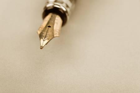 Fountain Pen close up shot Фото со стока