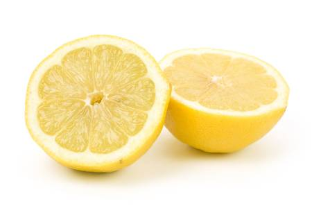 Yellow Lemons with white background Stock Photo - 2668440