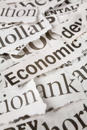 Newspaper Headlines close up for background Stock Photo - 2668533