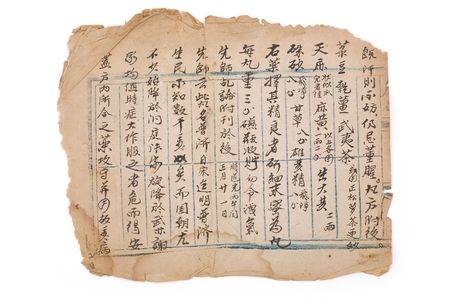 herbolaria: marr�n antiguo chino para la prescripci�n de antecedentes