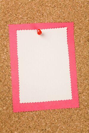 a note on a Bulletin Board Фото со стока