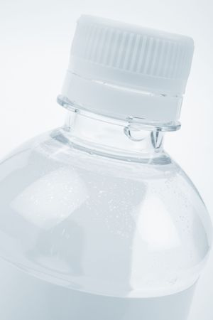 purified: bottle water close up shot